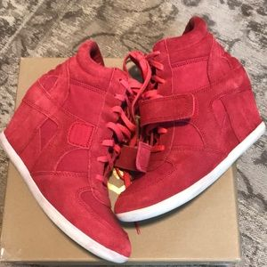 Wedge Ash red sneakers 8